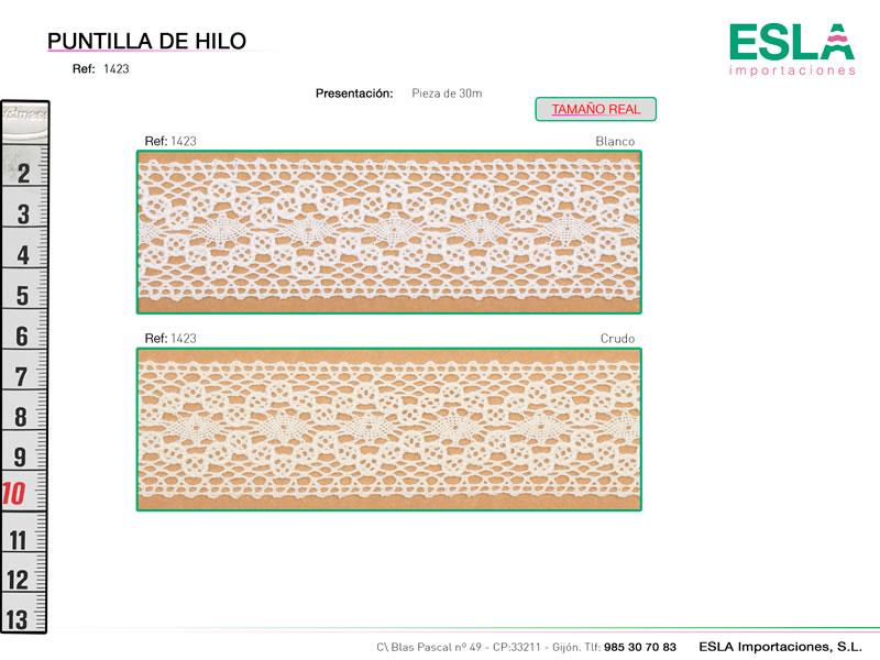 Puntilla de hilo, Familia 1422, Ref 1423