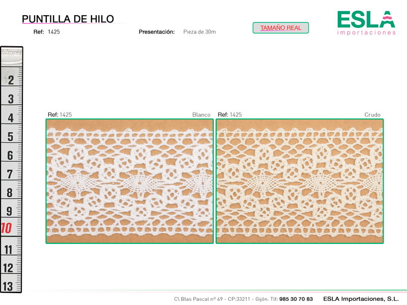 Puntilla de hilo, Familia 1422, Ref 1425