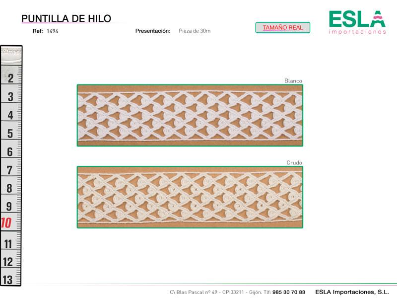 Puntilla de hilo, Familia 1494, Ref 1494