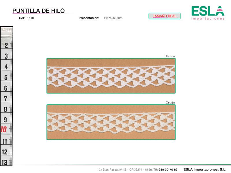 Puntilla de hilo, Familia 1494, Ref 1510