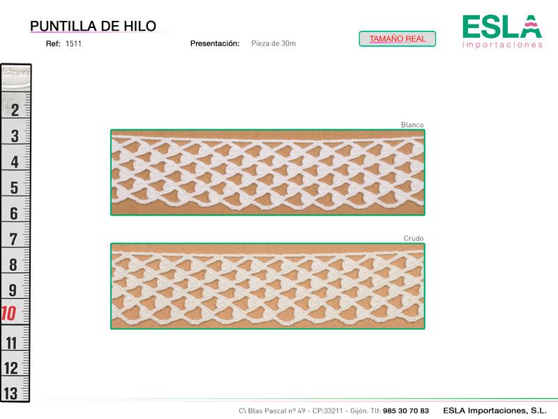 Puntilla de hilo, Familia 1494, Ref 1511