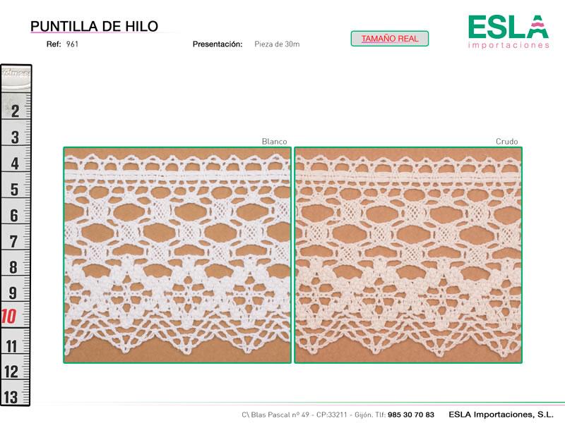 Puntilla de hilo, Familia 961, Ref 961