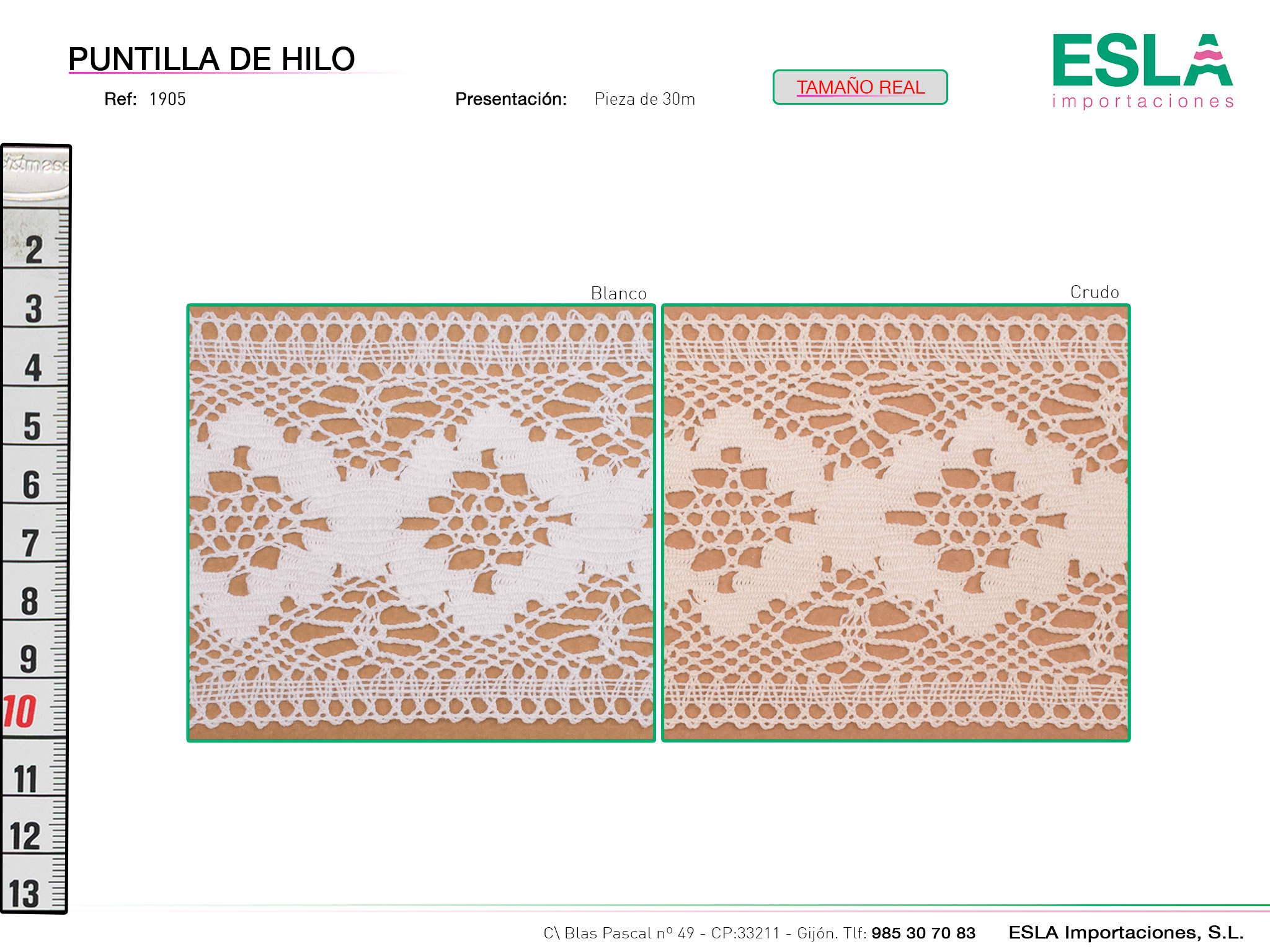 Puntilla de hilo, Familia 1904, Ref 1905