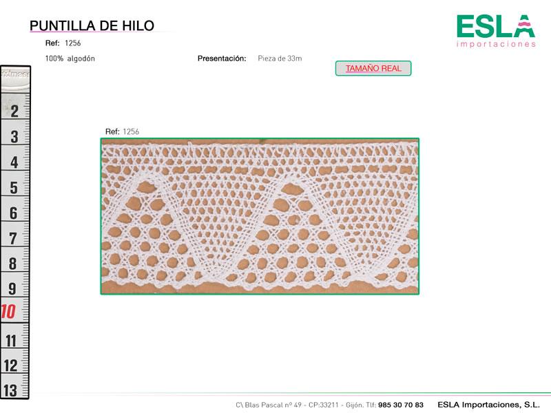 Puntilla de hilo, Familia 1256, Ref 1256