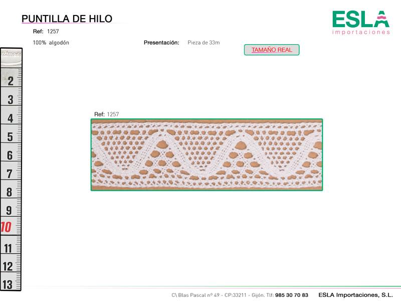 Puntilla de hilo, Familia 1256, Ref 1257