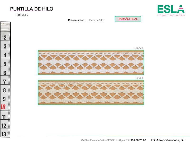 Puntilla de hilo, Familia 3085, Ref 3086