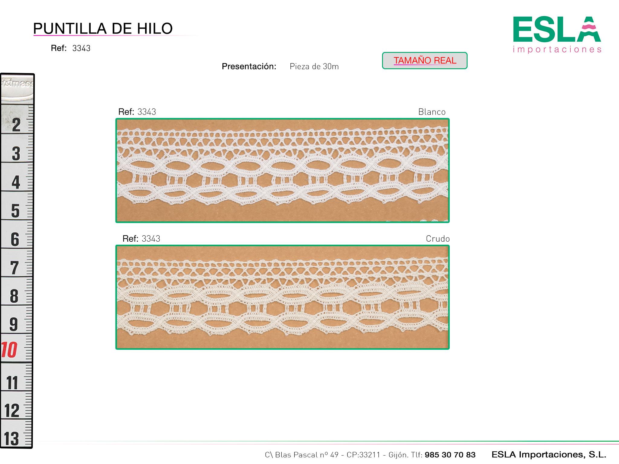Puntilla de hilo, Familia 3342, Ref 3343