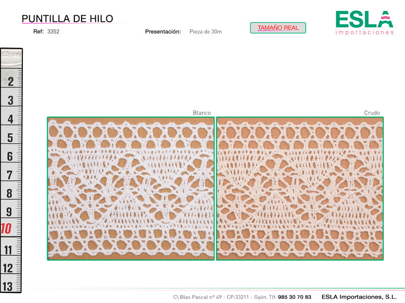 Puntilla de hilo, Familia 3351, Ref 3352