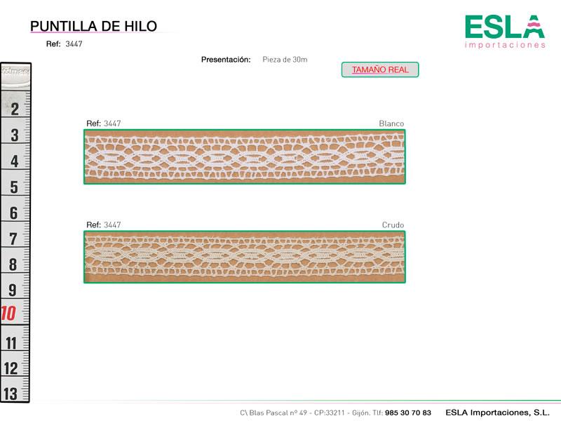 Puntilla de hilo, Familia 3444, Ref 3447