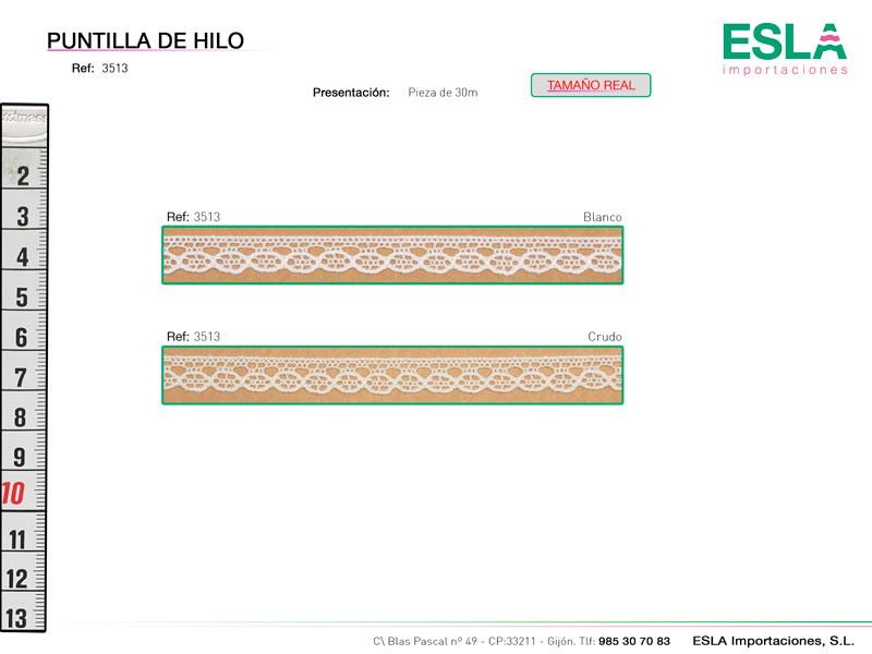 Puntilla de hilo, Familia 3513, Ref 3513