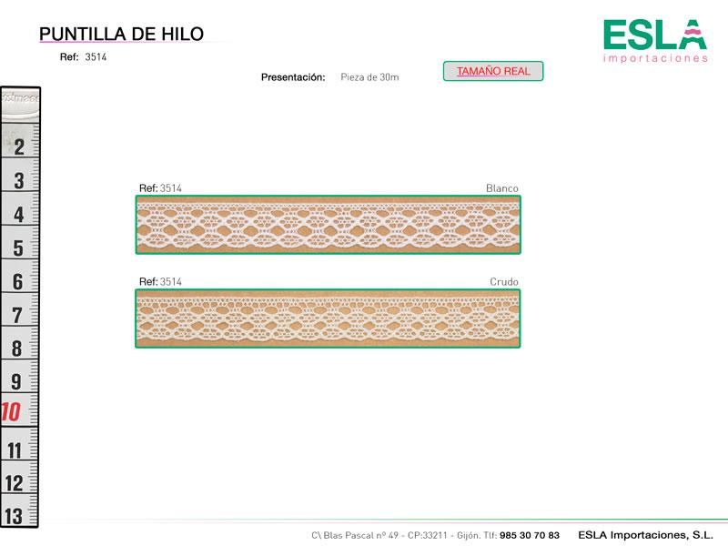 Puntilla de hilo, Familia 3513, Ref 3514