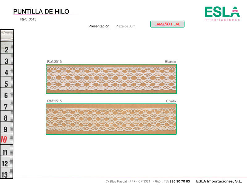 Puntilla de hilo, Familia 3513, Ref 3515