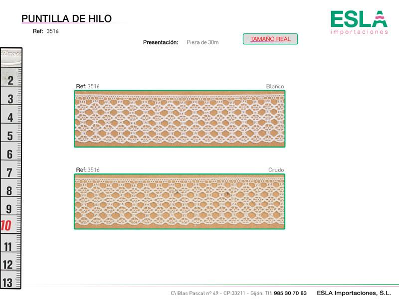 Puntilla de hilo, Familia 3513, Ref 3516