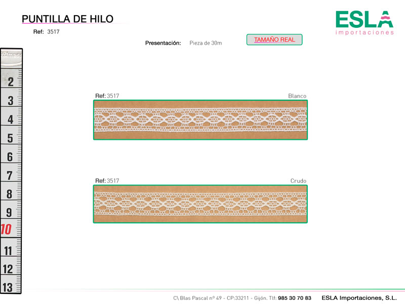 Puntilla de hilo, Familia 3513, Ref 3517