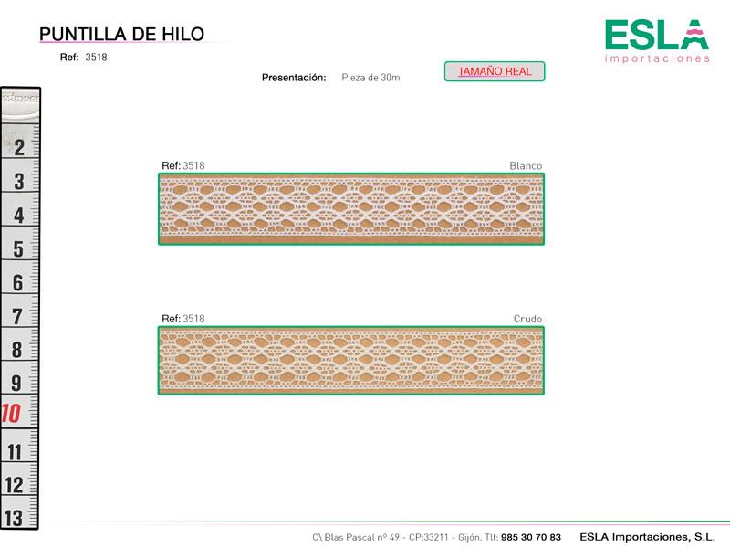 Puntilla de hilo, Familia 3513, Ref 3518