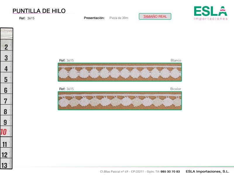 Puntilla de hilo, Familia 3615, Ref 3615