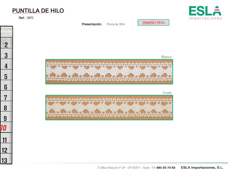 Puntilla de hilo, Familia 3880, Ref 3893
