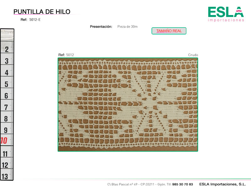 Puntilla de hilo, Familia 5012, Ref 5012-E