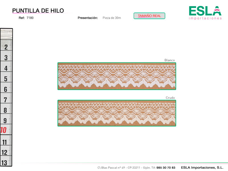 Puntilla de hilo, Familia 7180, Ref 7180