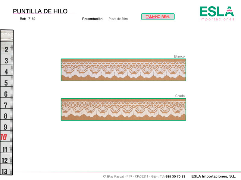 Puntilla de hilo, Familia 7180, Ref 7182