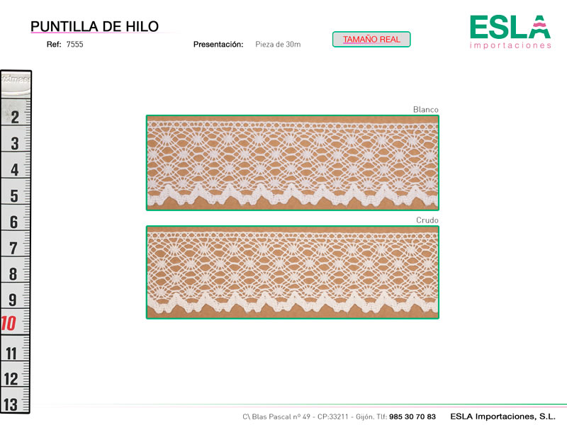 Puntilla de hilo, Familia 7180, Ref 7555