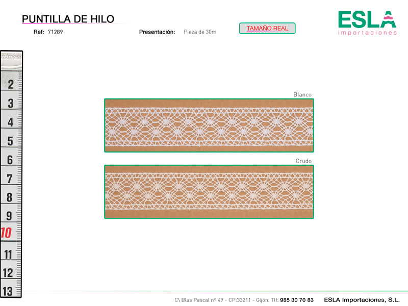 Puntilla de hilo, Familia 7180, Ref 71289