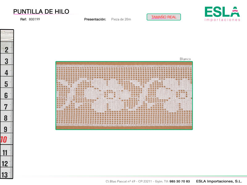 Puntilla de hilo, Familia 800199, Ref 800199