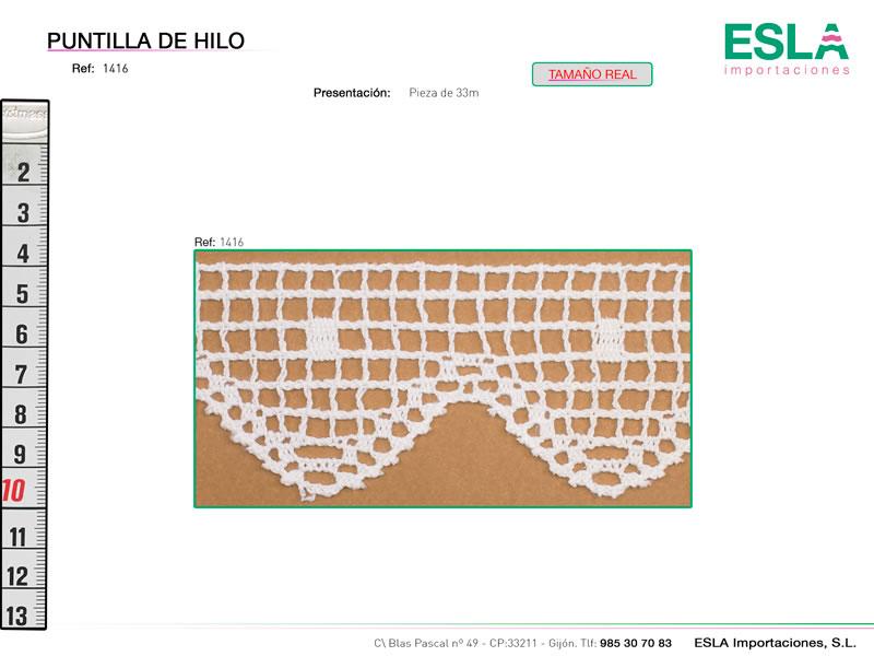 Puntilla de hilo, Familia 416, Ref 1416