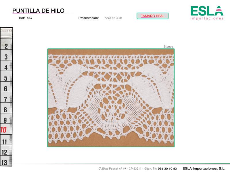 Puntilla de hilo, Familia 514, Ref 514