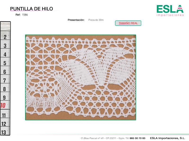Puntilla de hilo, Familia 514, Ref 1586