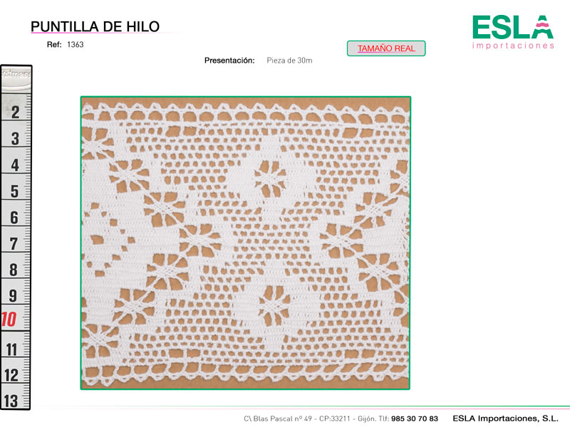 Puntilla de hilo, Familia 791, Ref 1363