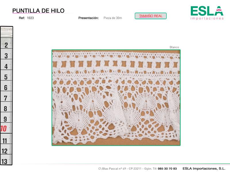 Puntilla de hilo, Familia 1019, Ref 1023