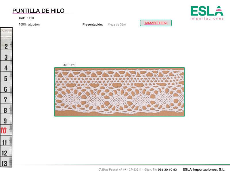 Puntilla de hilo, Familia 1120, Ref 1120