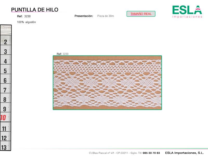 Puntilla de hilo, Familia 3229, Ref 3230