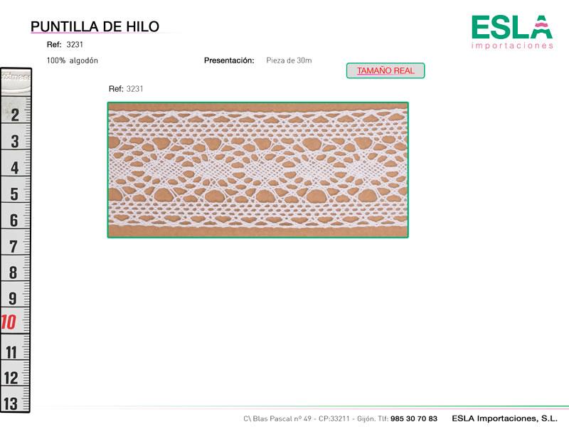 Puntilla de hilo, Familia 3229, Ref 3231