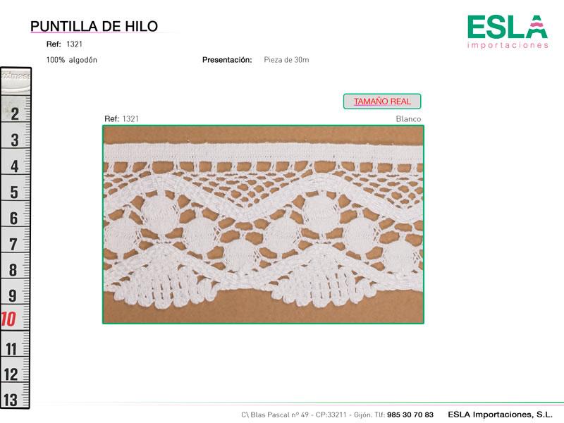 Puntilla de hilo, Familia 1321, Ref 1321
