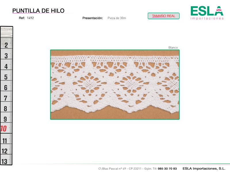 Puntilla de hilo, Familia 1492, Ref 1492