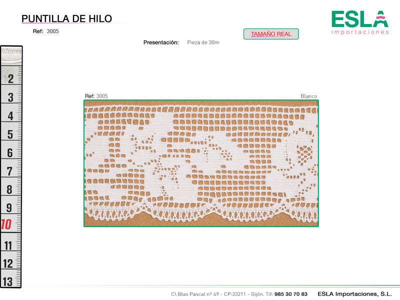 Puntilla de hilo, Familia 3005, Ref 3005