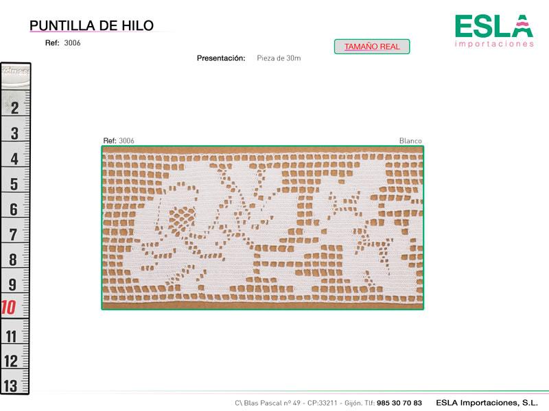 Puntilla de hilo, Familia 3005, Ref 3006