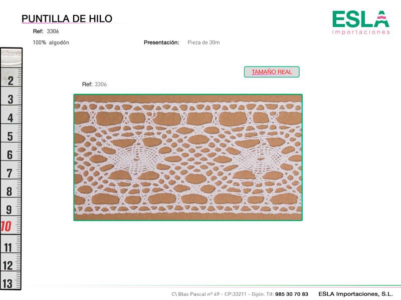 Puntilla de hilo, Familia 3079, Ref 3306
