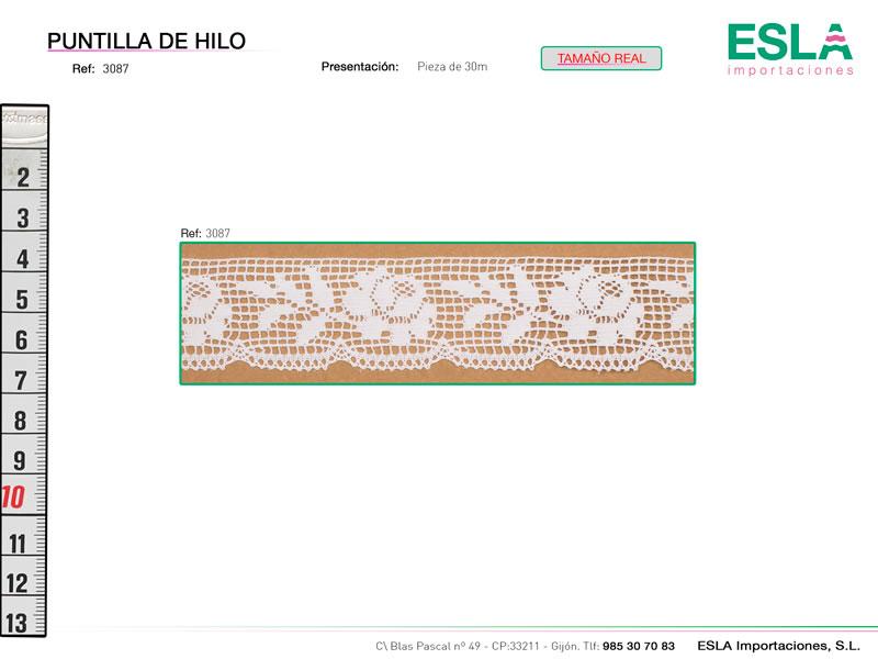 Puntilla de hilo, Familia 3087, Ref 3087