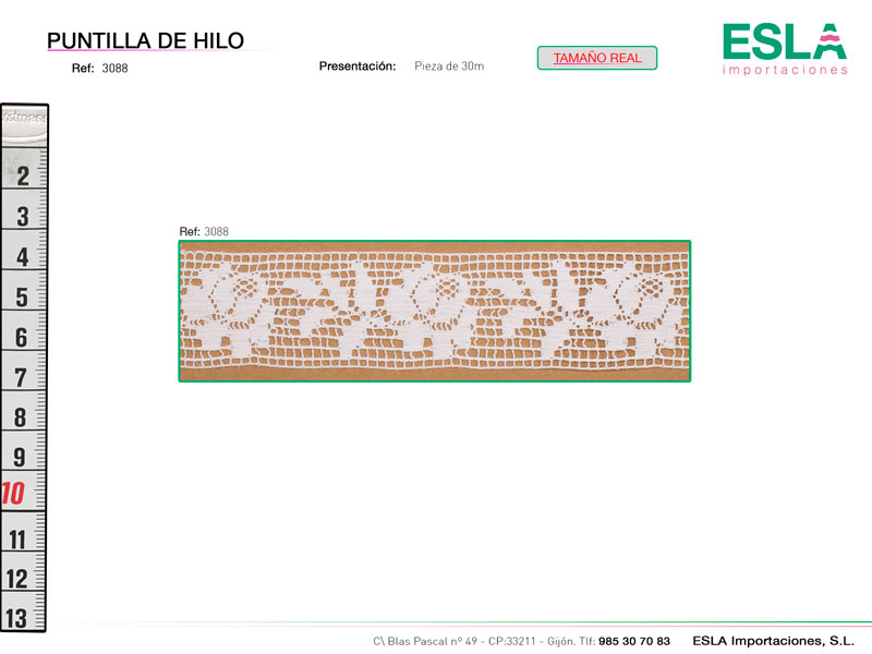 Puntilla de hilo, Familia 3087, Ref 3088