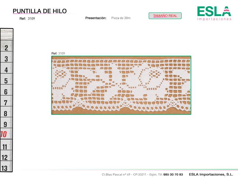Puntilla de hilo, Familia 3087, Ref 3109