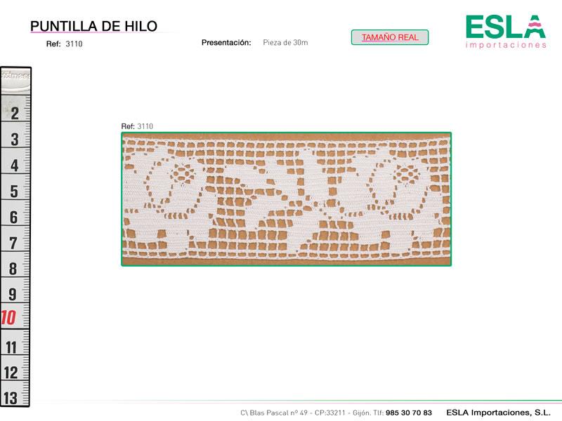 Puntilla de hilo, Familia 3087, Ref 3110