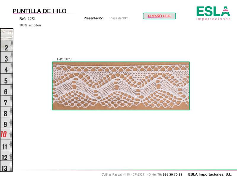 Puntilla de hilo, Familia 3023, Ref 3093