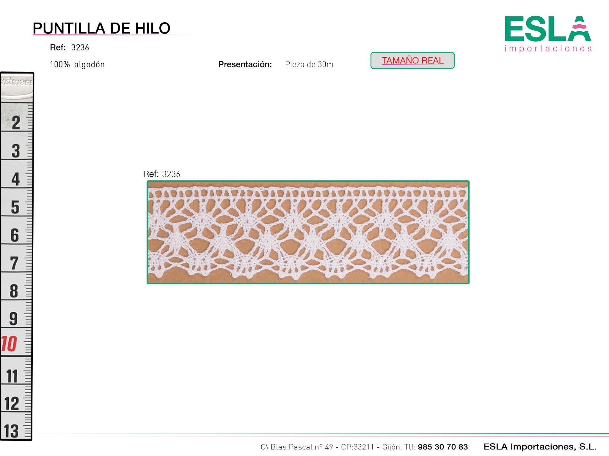 Puntilla de hilo, Familia 3236, Ref 3236
