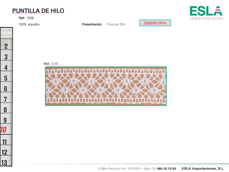 Puntilla de hilo, Familia 3236, Ref 3238