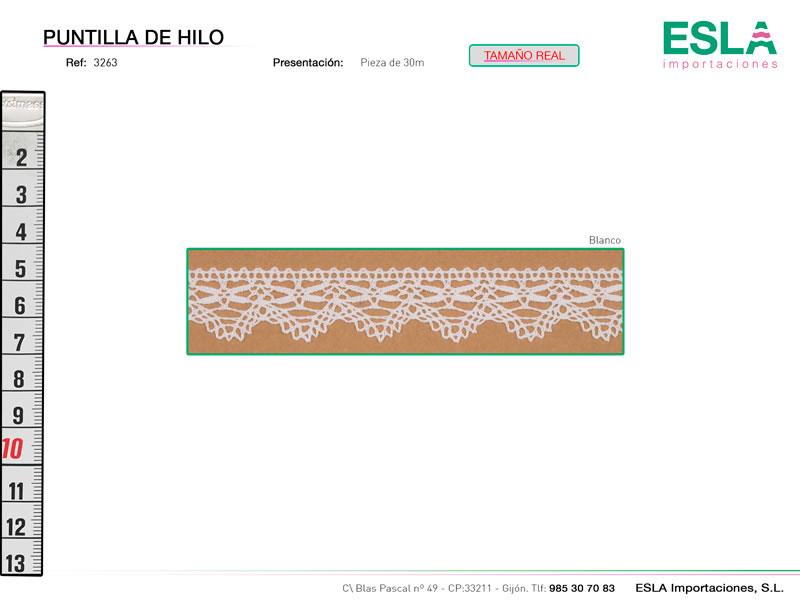 Puntilla de hilo, Familia 3263, Ref 3263