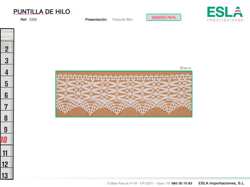 Puntilla de hilo, Familia 3263, Ref 3350
