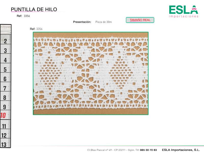 Puntilla de hilo, Familia 3356, Ref 3356